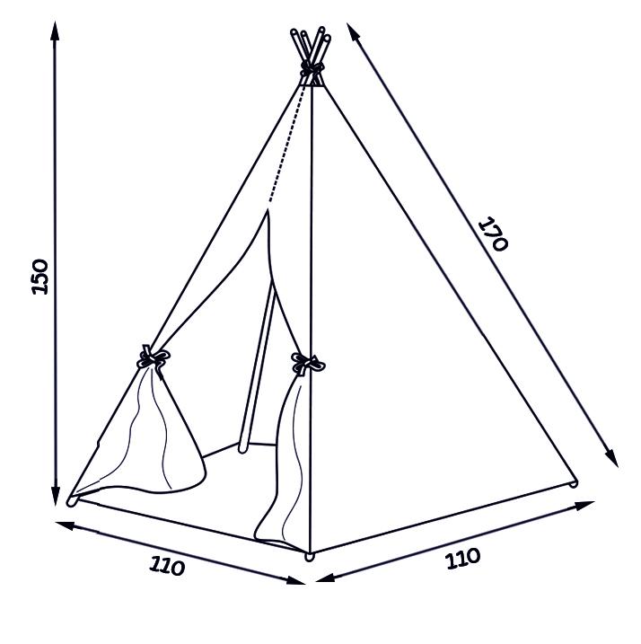 Namiot tipi - wymiary